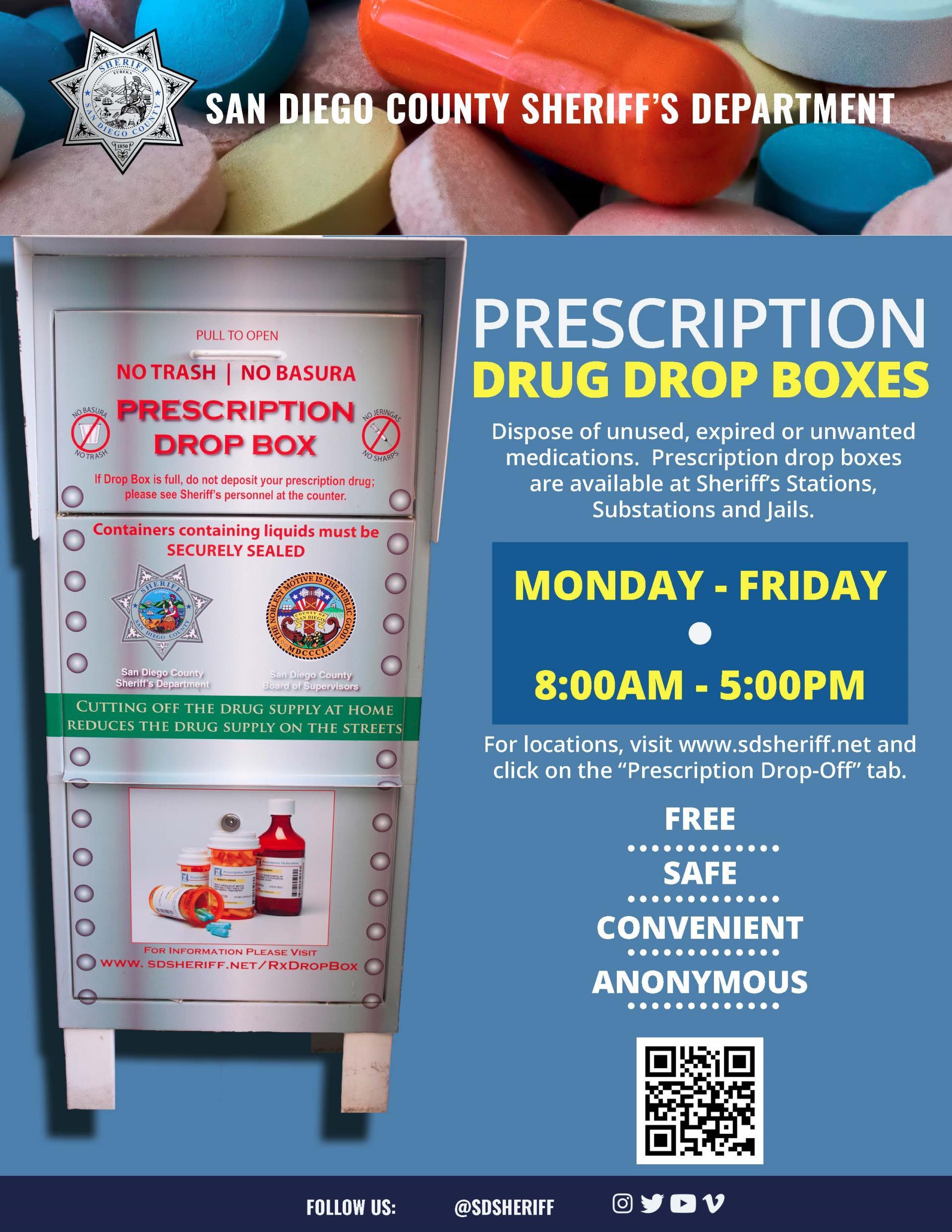 Prescription Drug Drop-Off | San Diego County Sheriff